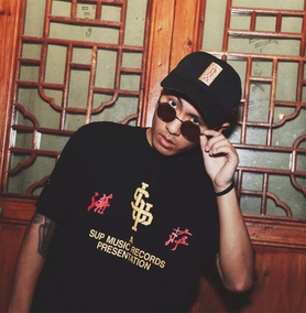 刘聪Key.L同款短袖 邦BANG 0731CSC 大傻 SUP MUSIC HIP HOP Tee