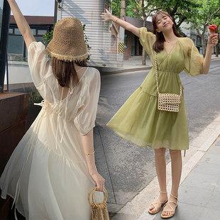 孕妇装夏天裙子时尚款套装潮妈洋气夏装长款过膝夏季孕妈妈连衣裙