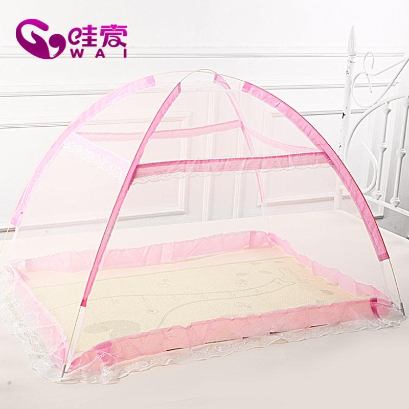 免 嬰兒床蚊帳兒童蚊帳帶支架宮廷開門式寶寶蒙古包 嬰兒蚊帳