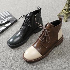 【断码清仓不退不换】秋季新款女鞋牛皮圆头平底马丁靴时尚女踝靴