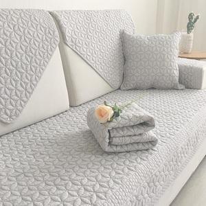 纯棉沙发垫四季通用全棉布艺防滑坐垫盖布简约现代北欧沙发套罩巾