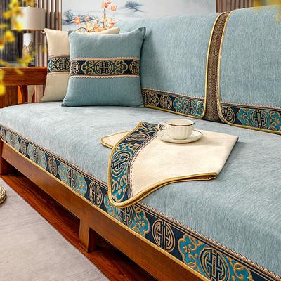 实木沙发垫中式新中式高档防滑坐垫靠背巾盖布四季通用沙发垫套罩
