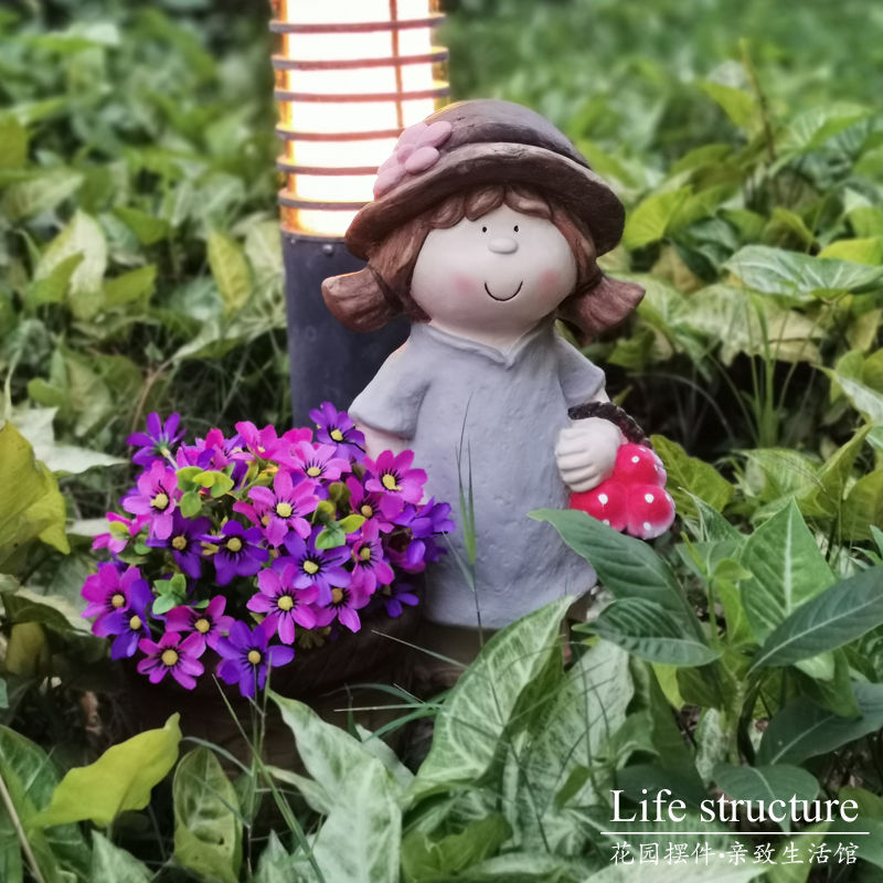 Ins outdoor girl flower pot garden garden decoration American outdoor decoration store family landscape garden