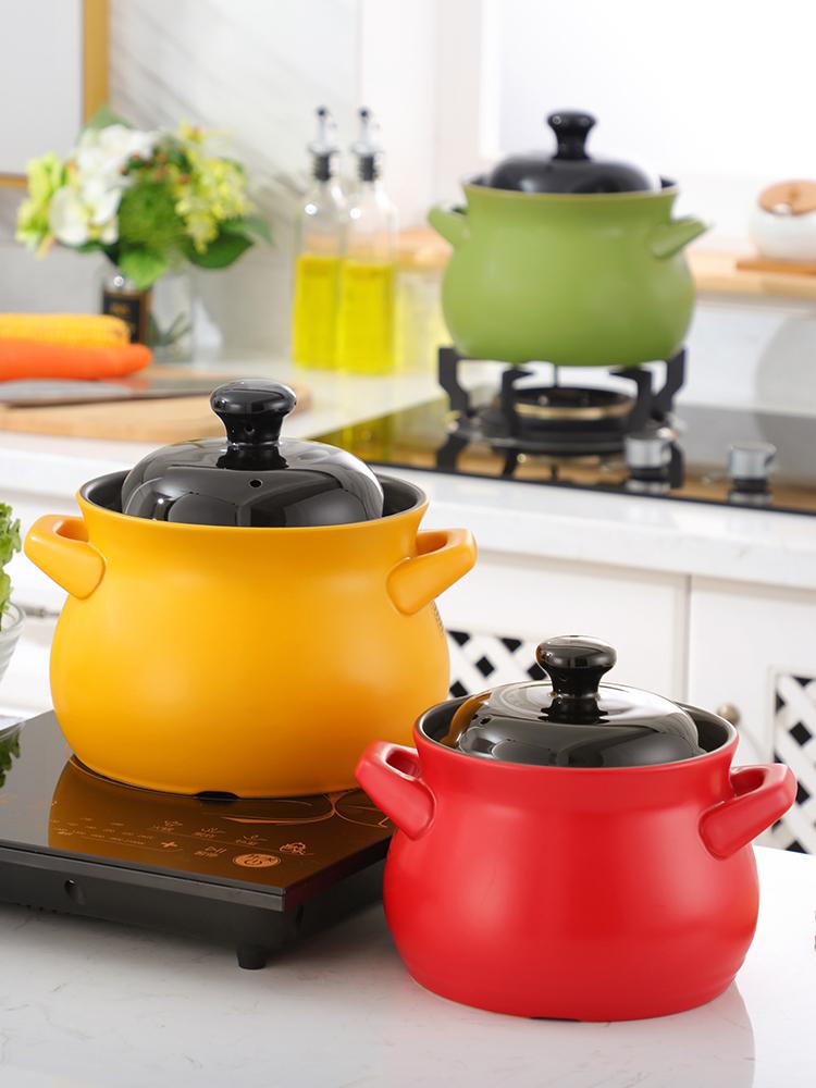 电磁炉适用砂锅耐高温陶瓷锅煲汤炖锅沙锅汤锅家用商用专用小大