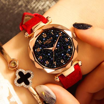 韩版时尚潮流简约气质手表女士2020年新款ins风学生防水网红星空