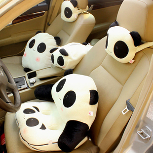 Cute Panda car headrest pillow lumbar pillow cushion pillow blankets Decoration