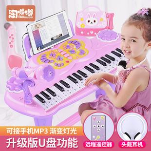 儿童电子琴女孩初学者入门可弹奏音乐玩具宝宝多功能小钢琴3-6岁1品牌
