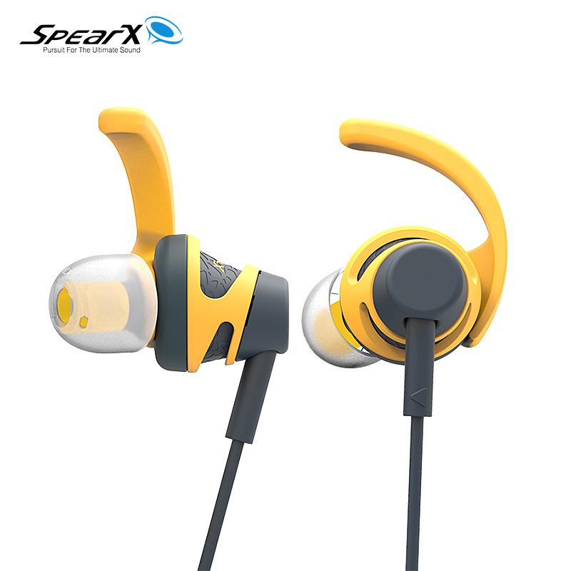 SpearX声特 S2 运动耳机防水防汗有线重低音跑步挂耳式通用高音质