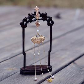 独家原创天然珍珠中国古风典雅长命锁款胸饰旗袍压襟汉服挂件腰佩