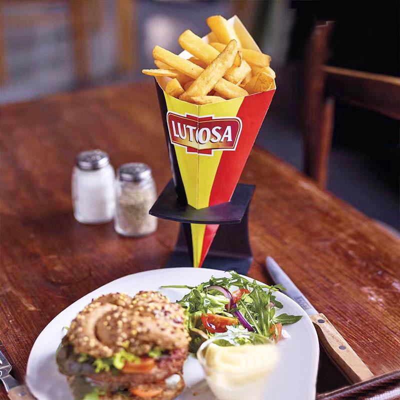 比利时原装进口路多萨裹粉粗薯条2.5kg粗薯条土豆条冷冻油炸直薯