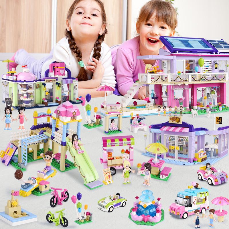 11月30日最新优惠儿童益智拼装玩具女孩城堡公主游乐场兼容樂高拼装积木玩具模型