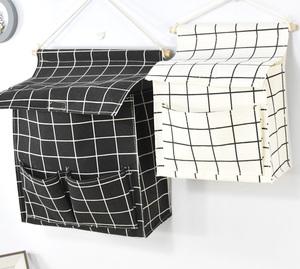 墙上置物袋收纳袋挂袋卧室床头墙挂式布艺大容量大号杂物袋挂袋门
