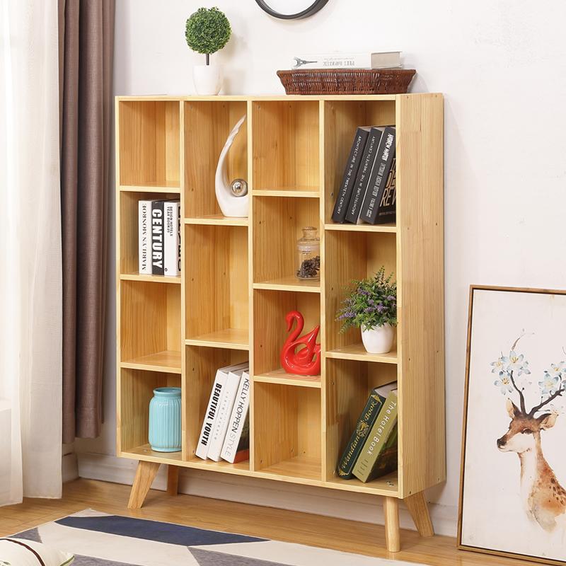 松木儿童书架简易家用置物架实木儿童书柜自由组合储物柜收纳柜券后248.00元