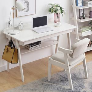 北欧实木书桌家用卧室儿童中小学生学习写字台简约办公电脑台式桌