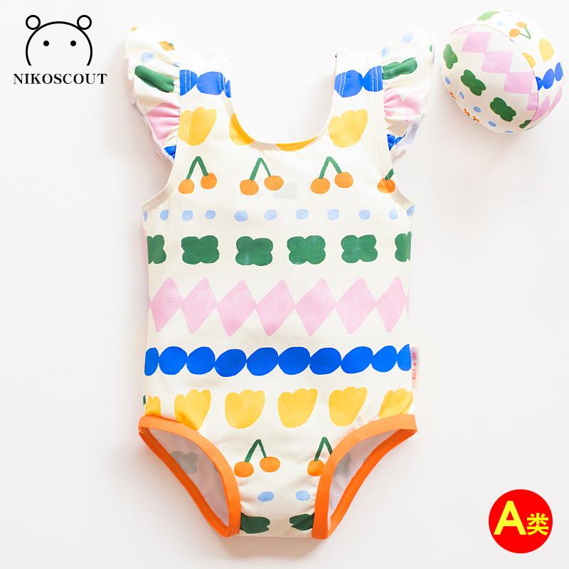 儿童泳衣女孩3一岁宝宝泳衣女宝宝ins小童游泳衣可爱泡温泉比基尼