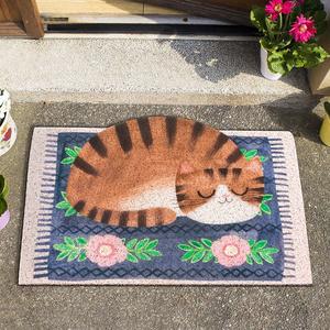 卡通可爱猫咪门口地垫 家用入户门玄关阳台门垫进门垫子防滑地毯