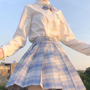 【冰淇淋】JK格裙学院风高腰百褶裙半身裙日系少女学院风短裙格裙