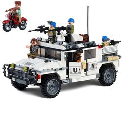 乐高积木男孩子军事履带式装甲汽车儿童智力坦克模型拼装二战玩具