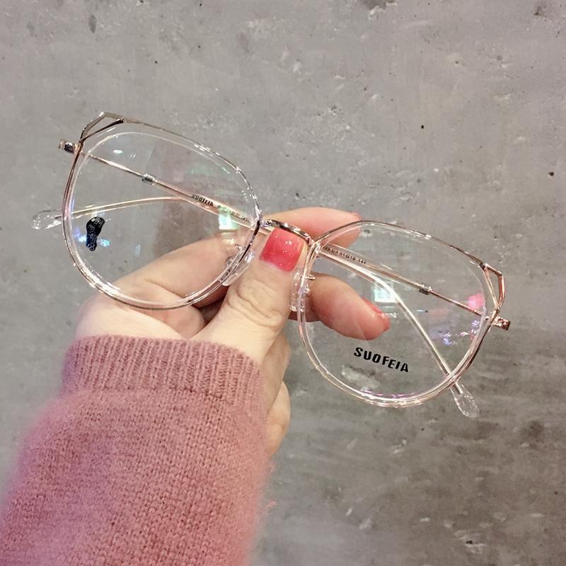 索菲亚超轻猫耳小红书近视眼镜框女配眼睛镜架网红圆防蓝光平光镜 thumbnail
