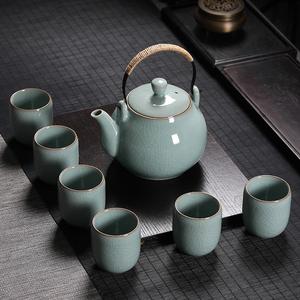 青瓷提梁泡茶壶大号功夫茶具茶杯