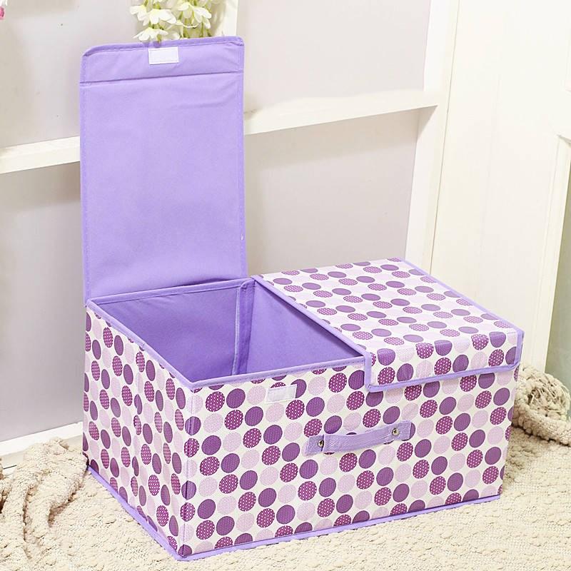 双盖双格衣服收纳整理箱有盖防水桌面储物箱内衣物裤收纳盒可折叠11-12新券