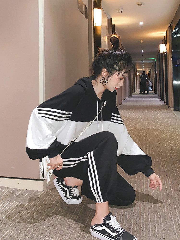 很仙的两件套洋气网红2019新款韩版春秋季牛油果绿减龄时尚套装女11月27日最新优惠
