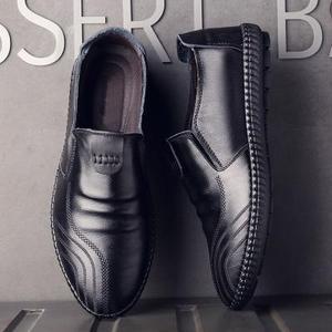 瑞臻新款休闲皮鞋贝维斯四季可穿男士飞行员商务皮鞋软底软面