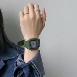 復古風方塊手表男女生學生韓版簡約潮流森系原宿學院風數字電子表圖片
