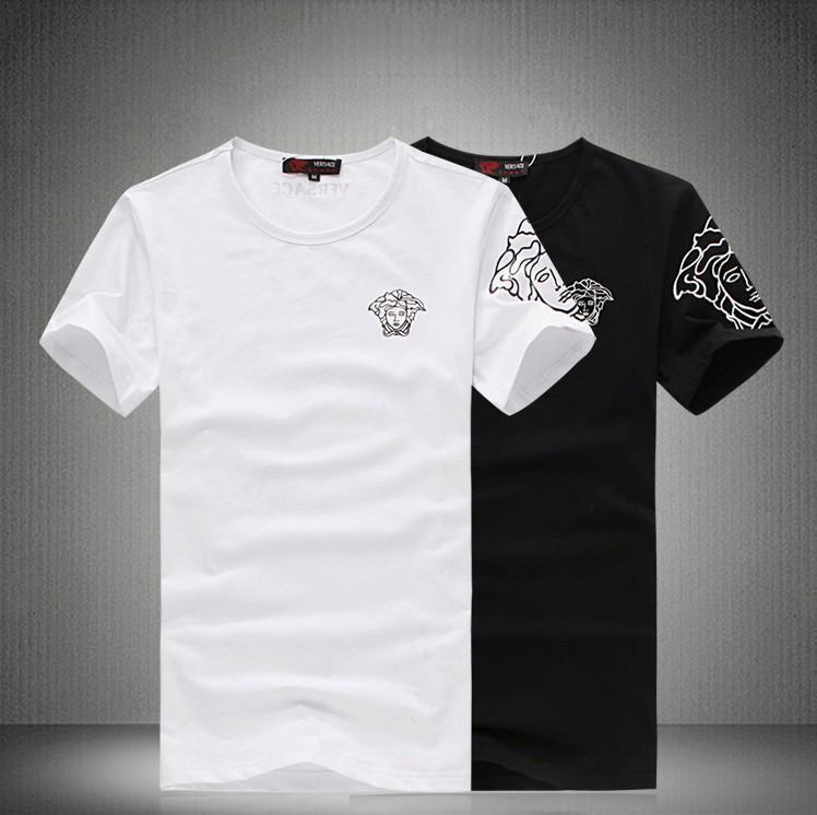 08353e7f38e03 Футболка мужская Версаче с коротким рукавом t-рубашка Сейко корейский моды  хлопок t-рубашки