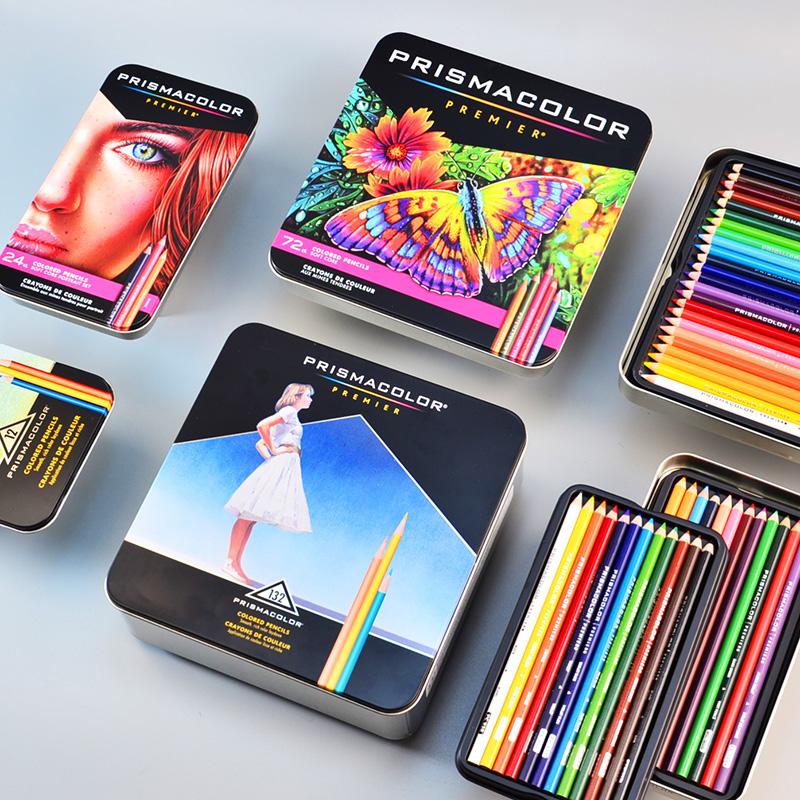 美国三福霹雳马油性彩铅Prismacolor150色美术手绘水溶性彩色铅笔24肤色人像白色套装专业进口官方旗舰店同款
