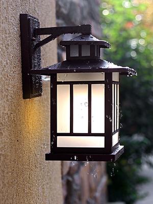 户外阳台室外防水防锈壁灯庭院花园别墅灯乡村美式仿古铝材灯具