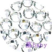 指甲钻6种尺寸透明白色水晶钻正品Swarovski施华洛世奇平底钻