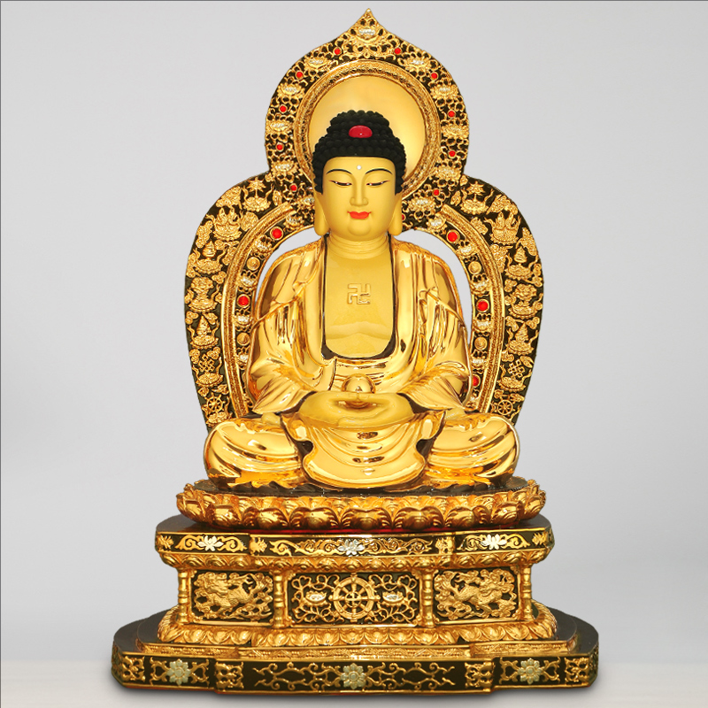 台湾纯铜鎏金释迦牟尼佛摆件如来佛祖佛陀佛教创始人佛像佛教用品