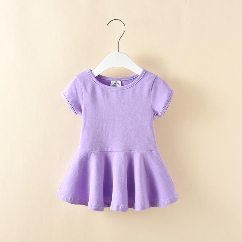 1-2-3-4 лет девушка летний костюм короткий рукав t футболки дети корейский куртка ребенок хлопок платье бесплатная доставка