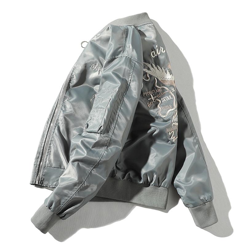 Embroidered jacket mens new Japanese fashion brand tooling Air Force pilot jacket casual loose spring Baseball Jacket mens