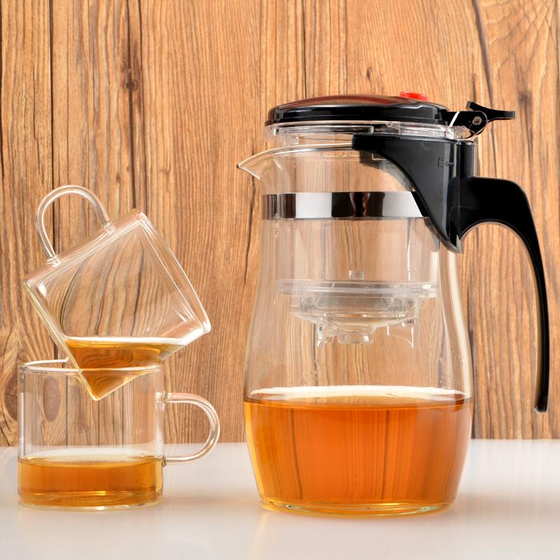 Элегантная чашка пузырь чайник сопротивление горячей стекло порыв чай устройство съемный изысканный чашка ароматный чай горшок фильтрация вкладыш чайный сервиз домой