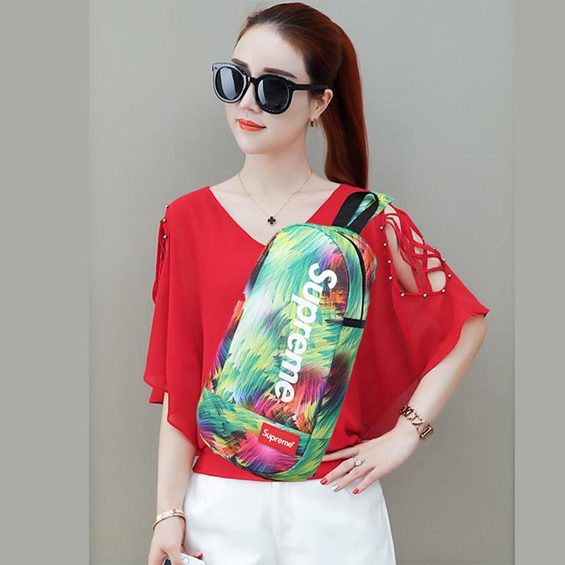Chest bag mens ins super fire multi-function single shoulder slant span bag versatile bag fashion brand personalized leisure Student Backpack