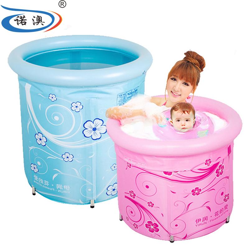 諾澳嬰兒遊泳池家用新生幼兒童合金支架大號寶寶保溫遊泳桶洗澡桶