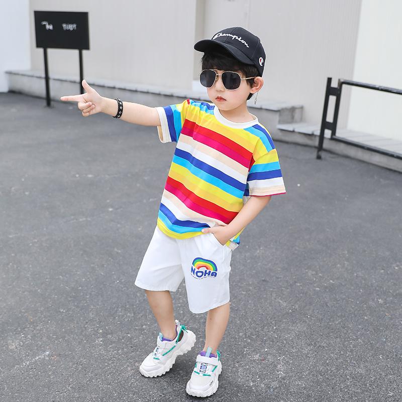 童装男童夏装套装儿童网红洋气时髦中大童韩版帅气夏款2020新款潮