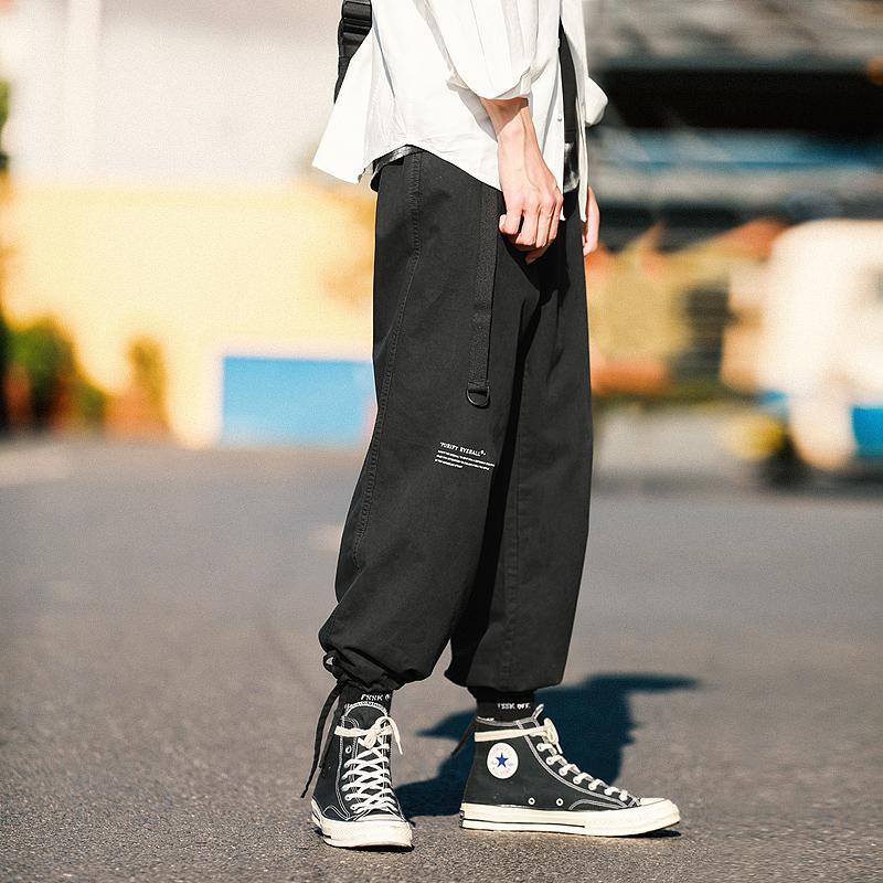 满198.00元可用90元优惠券净化眼球新款嘻哈工装裤男阔腿裤
