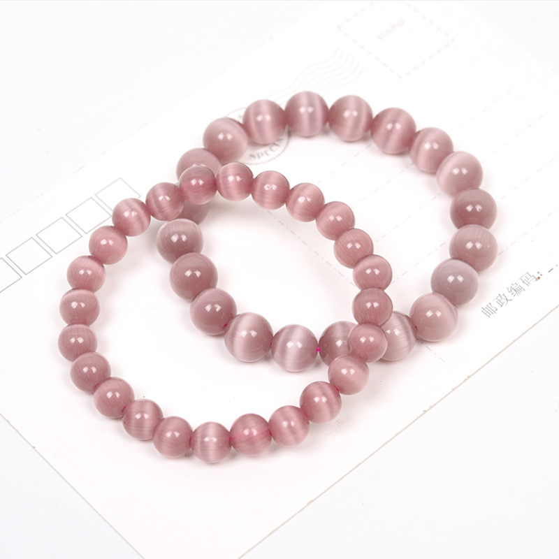 Natural powder Opal crystal Buddha beads open pearl bracelet for women