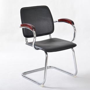 弓形办公椅工作电脑椅弓字培训椅皮会议椅固定靠背学生椅子 美司