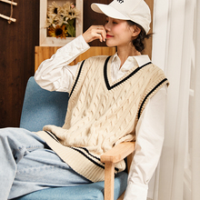 Tangshi new sweater vest and women knitted wool waistcoat in autumn and winter of 2019