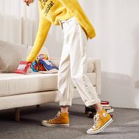 唐狮2021春季新款白色高腰潮牛仔裤质量怎么样