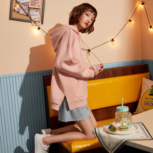 Spring 2009 New Long Sleeve Korean Edition Chao Loose Pink Sanitary Clothes Women's Caps Overfire Cec Sanitary Clothes
