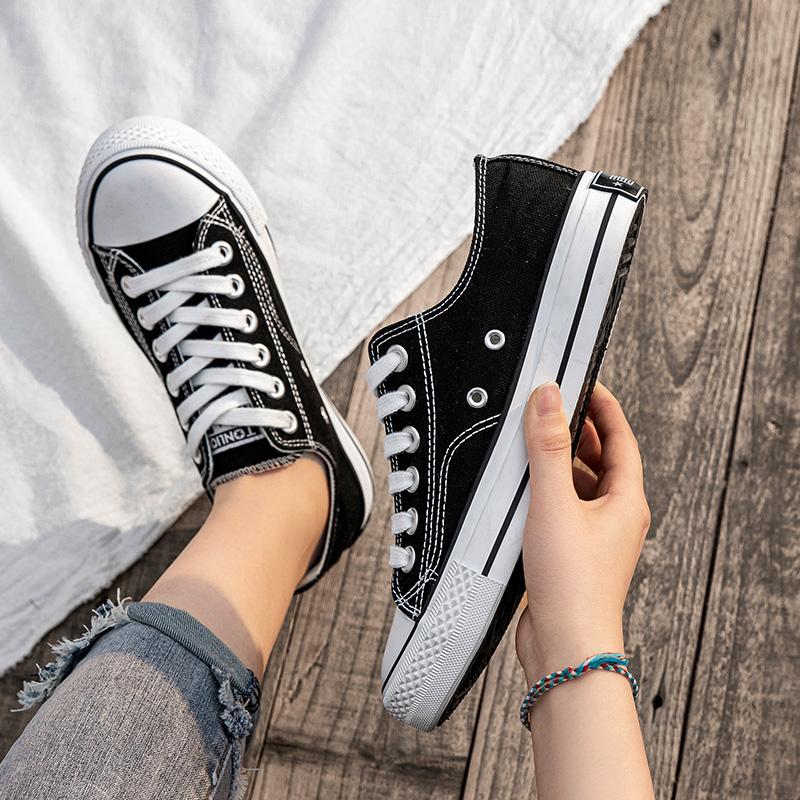 唐狮高低帮帆布鞋女夏季薄款2020新款百搭休闲板鞋女韩版 ulzzang