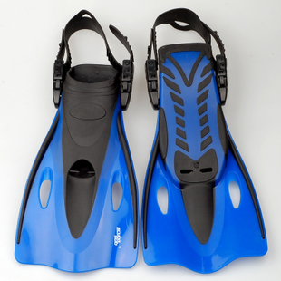 Diving flippers short flippers swimming training fins diving equipment silicone snorkeling supplies Specials