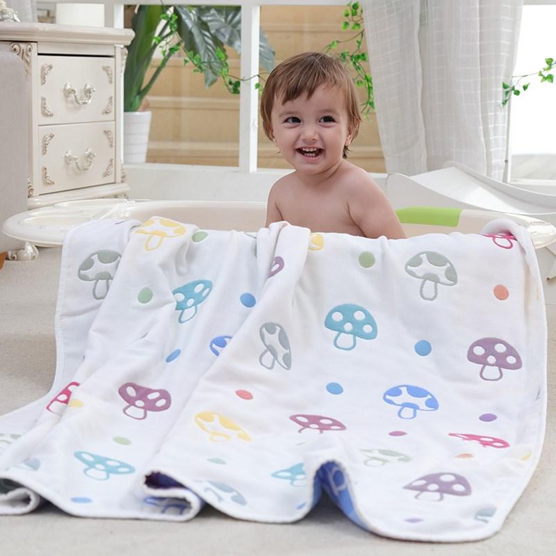 婴儿浴巾纯棉毛毯薄毯子婴儿针织新生儿宝宝盖毯小被子儿童空调被