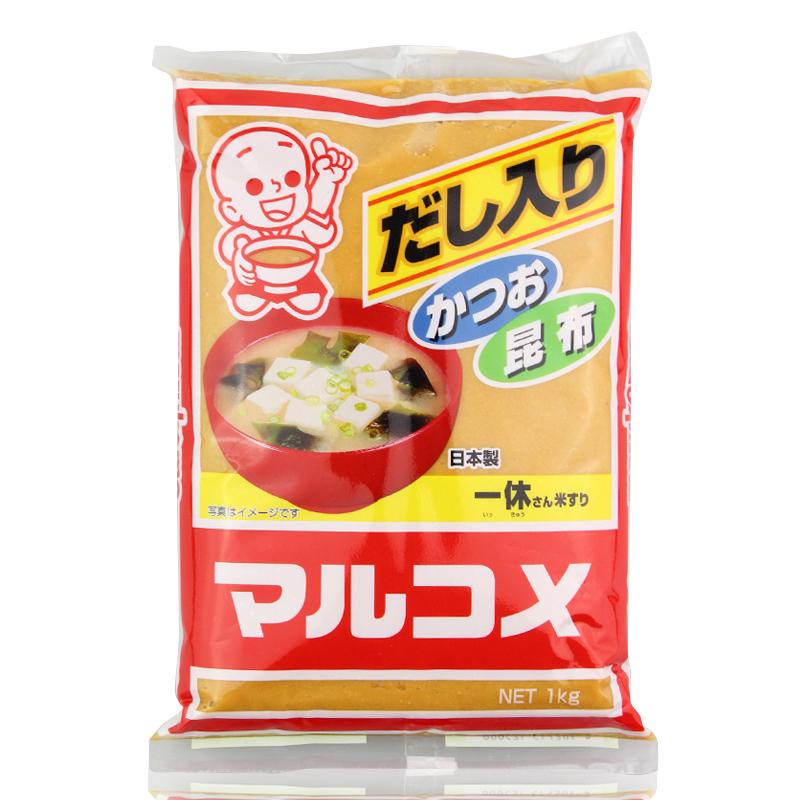 日本味增丸米一休味噌大酱汤味增汤白味增昆布味增味增酱1kg包邮