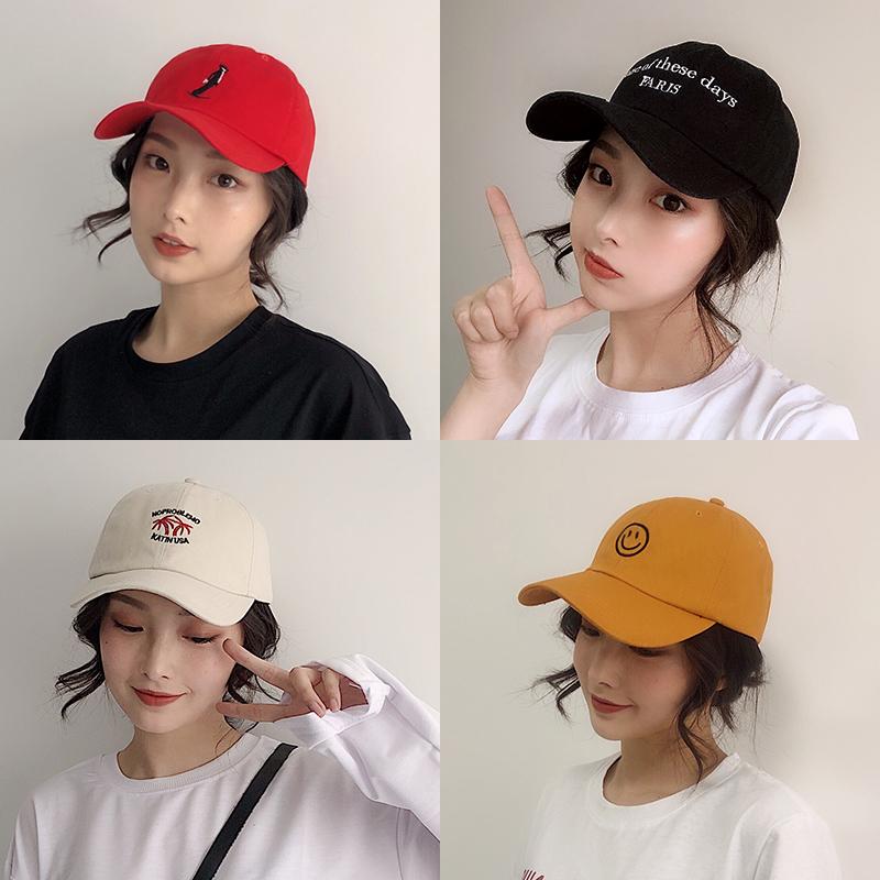 帽子女韩版百搭鸭舌帽ins潮人夏季网红学生棒球帽防晒遮阳太阳帽